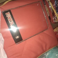 bedcover set sprei fitted 180x200 warna merah salsa