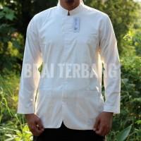 baju muslim pria putih polos panjang. baju koko. baju taqwa