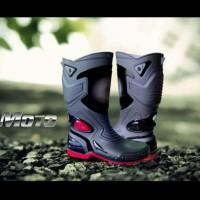 AP Boots MOTO3 MOTO 3 sepatu karet tahan air anti selip merah hitam