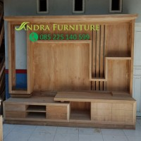 penyekat ruangan , buffet tv kayu, partisi kayu jati panjang 2,5 meter