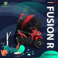 COVER MOTOR HONDA VARIO PREMIUM QUALITY / SARUNG MOTOR FUSION R - Biru