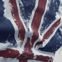 Import 2019 Fashion Musim Panas Inggris Bendera Dicetak T-shirt Pria