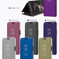 Samsung a70 Flip Clear View Standing Cover Luxury Mirror case