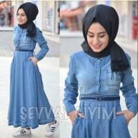 damai fashion jakarta - baju muslin wanita MAXI SEVAL 2 warna - konvek