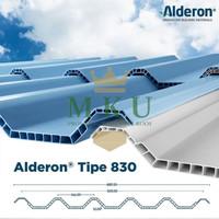 Atap uPVC Alderon -830 10 mm (Warna Biru dan Putih)