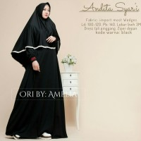 baju gamus busana muslimah longdress set jilbab ori amelia