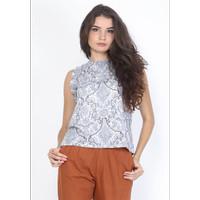 Veyl Store Ramses Atasan Batik Wanita Warna Biru