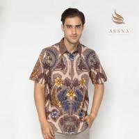 Asana Abian Short Sleeves Premium Cotton - Khaki - Cokelat, XL