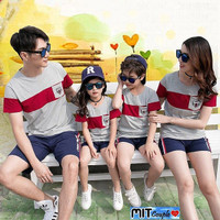 Baju Family Couple Kaos Pasangan Keluarga 2 Anak Bendera 11173