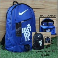 tas nike just do it biru/Tas Ransel Sekolah / Kuliah / Olahraga