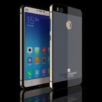 Aluminium Tempered Glass Hard Case for Xiaomi Xiaomi Mi4s Abu-abu Emas