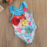 Baju renang mermaid ariel disney princess anak import