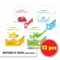 Promo 12 Sachet Return II Skin--Masker Wajah Alami Made In Korea