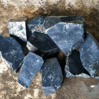 BAHAN BATU NATURAL BLACK JADE ACEH HITAM NEMPEL MAGNET
