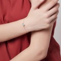 Dear Me - Moon Stone Bracelet (925 Sterling Silver 18K Gold Plating)