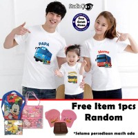 Kaos Keluarga / Baju Family (2 dewasa dan 1 anak) - Tayo-Tayo