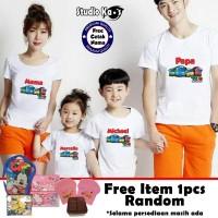 Kaos Keluarga / Baju Family (2 anak dan 2 dewasa) - Tayo-Tayo