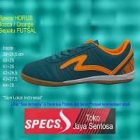 Best Sepatu Futsal SPECS HORUS IN tosca/orange - Hijau Tosca, 40