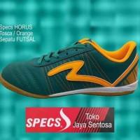 Sepatu Futsal SPECS HORUS IN tosca/orange - Hijau Tosca, 40