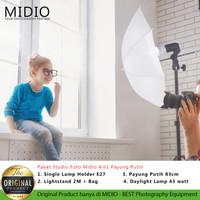 Paket Studio Foto Midio 4in1 Payung Putih
