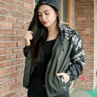 jaket armi army jacket baju wanita hoodie hoody loreng doreng luaran