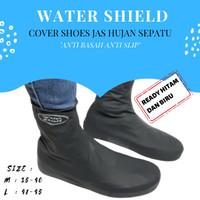 Water Shield Rain Shoes Cover Jas Hujan Sepatu Karet Anti Becek Size L