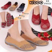 Kiddo F W021 Original Sepatu Wanita Anyaman Rajut Impor