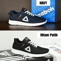 Sepatu Sport Pria Reebok SpeedLux Running Sneakers Hitam Abu Abu