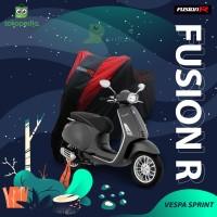COVER MOTOR VESPA SPRINT PREMIUM QUALITY / SARUNG MOTOR FUSION R - Biru