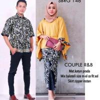 Jual Setelan Baju Kemeja & Kebaya Batik Couple Rabbani Set Murah