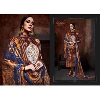 Baju Sari Wanita India Punjabi Premium Cotton Motif Gelap