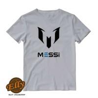 t-shirt kaos anak messi bola logo - import quality
