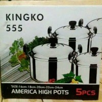 Panci Set Stainless Steel Kingko 555