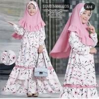 Baju Muslim Gamis Anak / Baju Anak Perempuan Umur 6-9. tahun