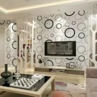 Bubble Black White Wallpaper Dinding 10M x 45Cm