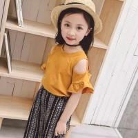 Setelan baju anak import sabrina
