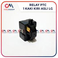 Relay PTC 1 kaki kiri LG ASli atas Kulkas kompresor satu pin terminal