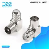 Jack Antena Tv L Drat Set ( made in taiwan )