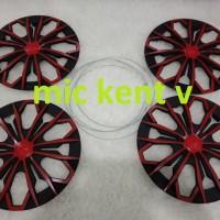 cover dop velg ring 13 dan 14 merah hitam datsun go