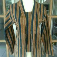 Baju Kebaya Lurik Wanita / Baju Kebaya Adat Jawa / Seragam Batik Lurik