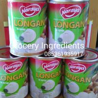 Naraya Longan in Syrup - 565gram 1Dus 12Pcs / Buah Kelengkeng Kaleng