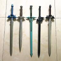 1:1 Pedang Legend Of Zelda Link Biru Hitam Cosplay Pu Sword Art Online