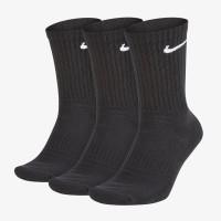 Kaos Kaki Sneakers Nike 3PK Everyday Cushion Crew Socks Black Original
