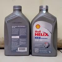 Oli Mesin Shell Helix HX-8 Berhologram ORI SAE 5W-30 Kemasan 1 Liter