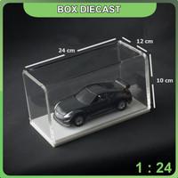 BOX DIECAST AKRILIK SKALA 1 : 24 (24x12x10) cm - Hitam