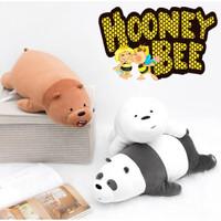 Miniso - Boneka We Bare Bears LARGE BIG SIZE Lying Position 80CM - Ice Bear Putih