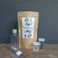 Paket Masker Spirulina Original isi 10, plus Rose Water dan Aloe vera