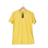 Kaos Polos Oblong Kuning Pendek Combed 30s Murah
