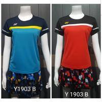 Baju Kaos Olahraga Badminton Cewek / Perempuan Minion Yonex Y 1903 B