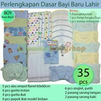 Paket Murah Inner Bayi Baru Lahir/Popok/Alas Ompol/Gurita/Singlet/STK